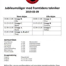 Schema jubileumsläger